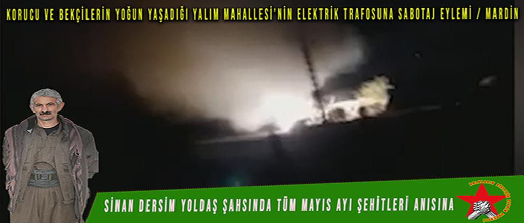 HBDH-Mardin-Yalim-Mahallesi-Trafo-Sabotaj-Eylemi