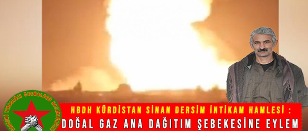 HBDHKurdistan-Sinan-Dersim-Dogal-Gaz-Sabotaj-Eylemi