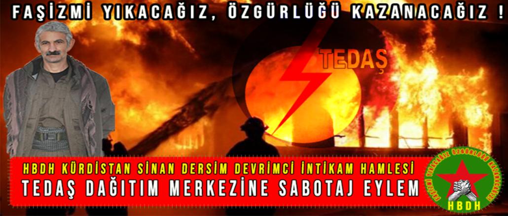 HBDH-Sinan-Dersim-TEDAS-dagitim-merkezine-sabotaj-eylemi