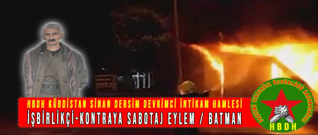 HBDH-Kurdistan-ISBIRLIKCI-KONTRAYA-SABOTAJ-EYLEM-BATMAN