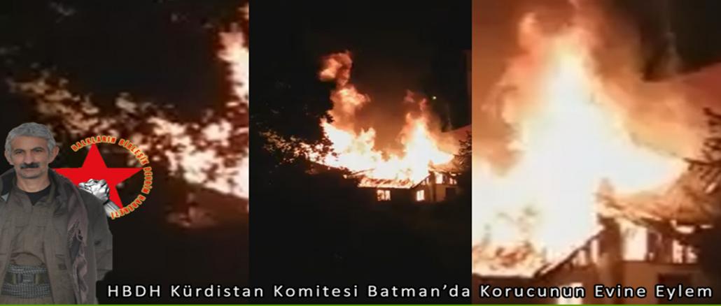 HBDH Kürdistan Komitesi Batman'da Korucunun Evine Eylem