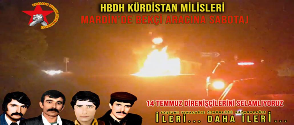 HBDH-Kurdistan-Bekci-Aracina-Sabotaj-Mardin